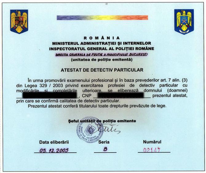Particular detectiv Romania